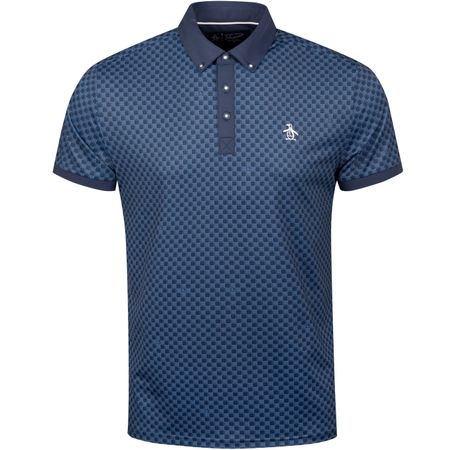 Golf undefined Checkerboard Pete Polo Black Iris - SS19 made by Original Penguin