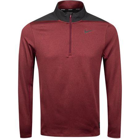 MidLayer Core Half Zip Dry Top Night Maroon - 2019 Nike Golf Picture