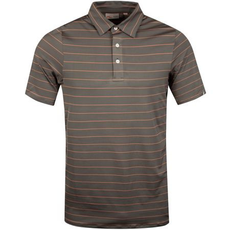 Golf undefined Soren Big Stripes Polo Steel Grey/Peach - SS19 made by Kjus