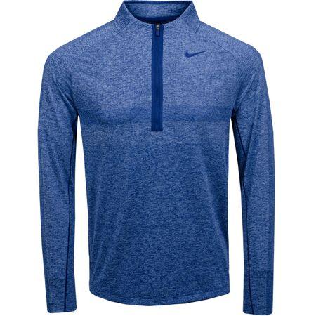 MidLayer Dri-Fit Half Zip Statement Top Blue Void/Indigo Fog - 2019 Nike Golf Picture