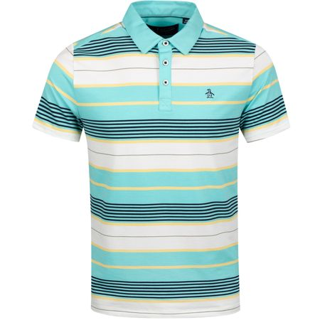 Polo Vacation Stripe Polo Tanager Turquoise - SS19 Original Penguin Picture