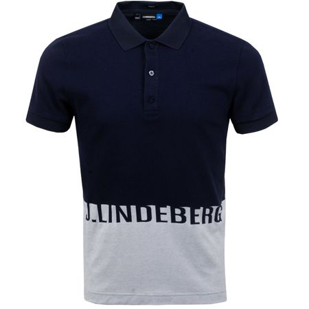 Golf undefined Alec Slim Cotton Poly Jacquard JL Navy - SS19 made by J.Lindeberg