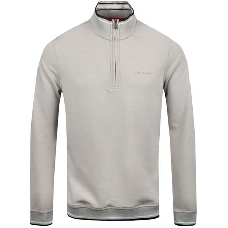 MidLayer Peanot Quarter Zip Light Grey - SS19 Ted Baker Picture