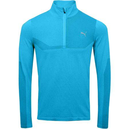 MidLayer Evoknit Quarter Zip Bleu Azur Heather - SS19 Puma Golf Picture
