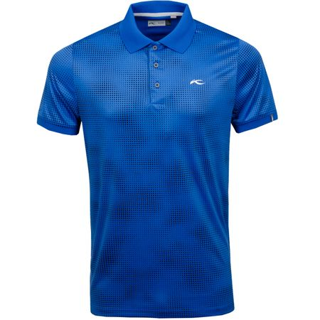 Golf undefined Spot Printed Polo Pacific Blue - SS19 made by Kjus