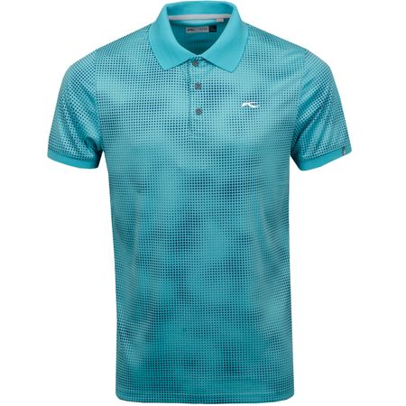 Golf undefined Spot Printed Polo Blue Turquoise - SS19 made by Kjus