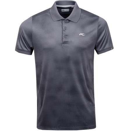 Golf undefined Spot Printed Polo Steel Grey - SS19 made by Kjus