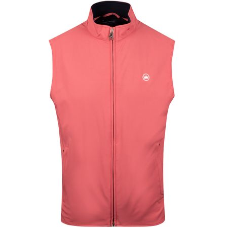 Golf undefined Stealth Hybrid Vest Cape Red - SS19 made by Peter Millar