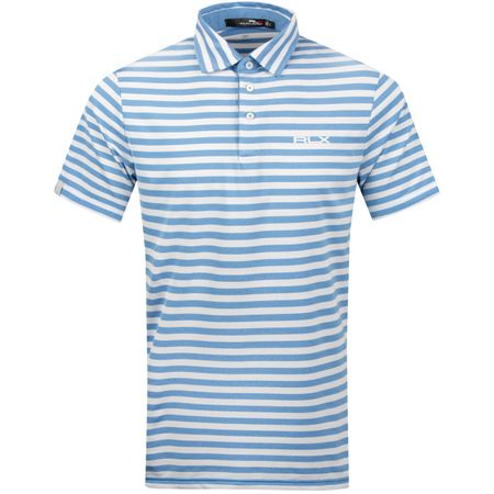 Polo Lightweight Airflow Stripe Shale Blue Heather/White - SS19 Polo Ralph Lauren Picture