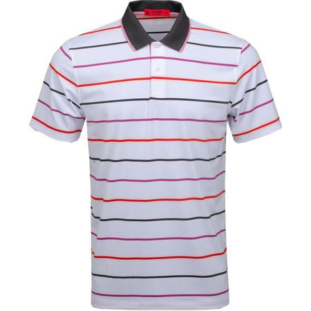 Golf undefined Multi Stripe Polo Rose Violet - SS19 made by G/FORE