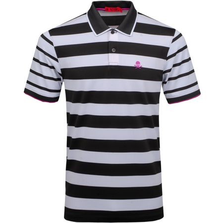 Polo Skull Stripe Polo Black Ink/Snow - SS19 G/FORE Picture