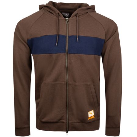 Hoodie LE Onshore Hoodie Chocolate Brown - SS19 Puma Golf Picture