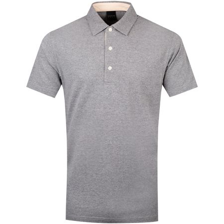 Polo Quin Natural Hand Polo Grey Heather/Peach Heather - SS19 Dunning Picture