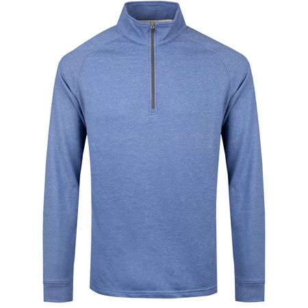 Golf undefined Natural Hand Quarter Zip Mid Blue Heather - SS19 made by Dunning