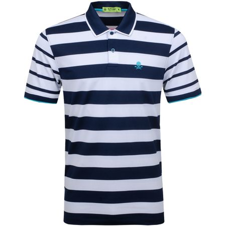Polo Skull Stripe Polo Twilight/Snow - SS19 G/FORE Picture