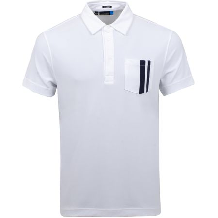 Polo Owen Regular Lux Pique White - SS19 J.Lindeberg Picture