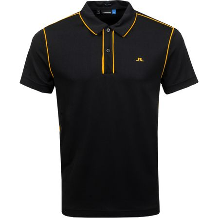 Polo Tomi Regular Lux Pique Black - SS19 J.Lindeberg Picture