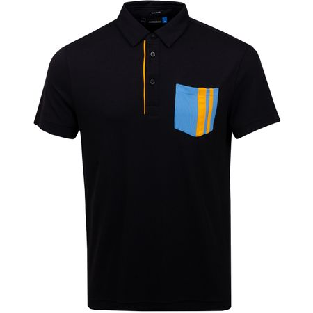 Golf undefined Owen Regular Lux Pique Black - SS19 made by J.Lindeberg