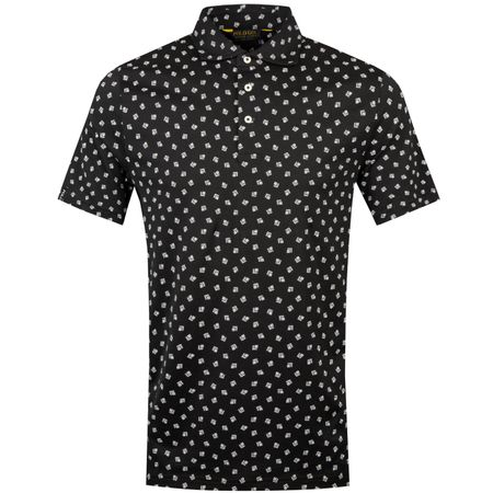 Polo Printed Luxe Jersey Deco Polo Black/White - SS19 Polo Ralph Lauren Picture