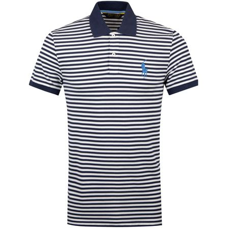 Polo Stripe Performance Pique French Navy/White - SS19 Polo Ralph Lauren Picture
