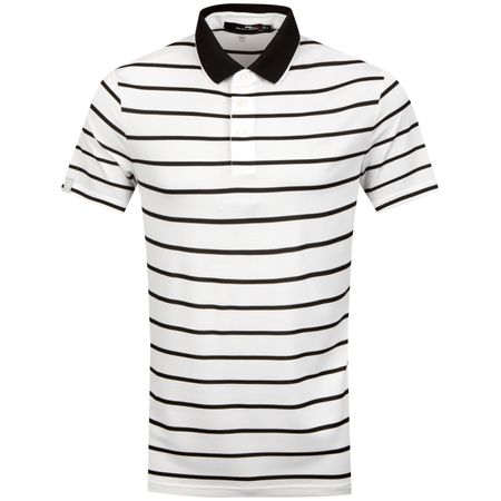 Golf undefined Lightweight Stripe Tech Pique Pure White/Polo Black - SS19 made by Polo Ralph Lauren