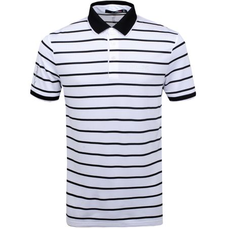 Polo Fine Stripe Tech Pique Pure White/Polo Black - SS19 Polo Ralph Lauren Picture