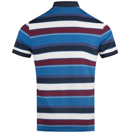 Golf undefined In the Groove Roadmap Stripe Polo Turkish Sea - AW18 made by Original Penguin