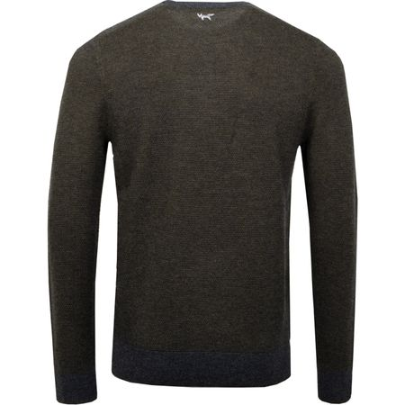 Hoodie Heathered Twist Sweater Grey Melange - AW18 Wolsey Picture