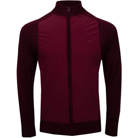 Golf undefined Knitted Hybrid Jacket Lux Softshell Dark Mahogany - AW18 made by J.Lindeberg