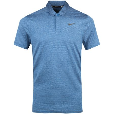 Golf undefined Dry Control Stripe Polo Gym Blue - AW18 made by Nike Golf