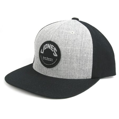 Cap Wool Snapback with Circle Patch Gray/Black - 2018 Jones Golf Bags  Picture