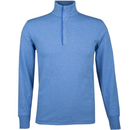 Golf undefined Fine Gauge Terry Half Zip Maidstone Blue Heather made by Polo Ralph Lauren