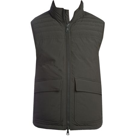 Golf undefined Hollins Vest Military Green/Dark Papaya made by Orlebar Brown