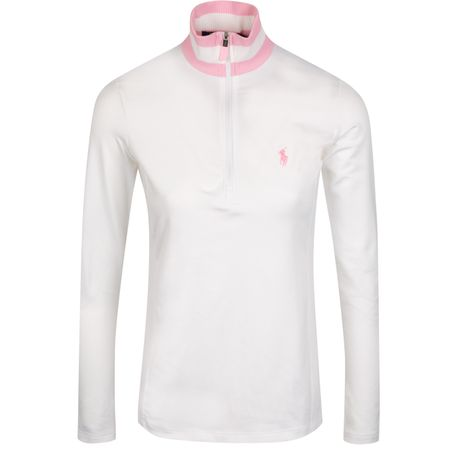 Golf undefined Womens Extreme Jersey Quarter Zip Pure White/Carmel Pink - AW19 made by Polo Ralph Lauren