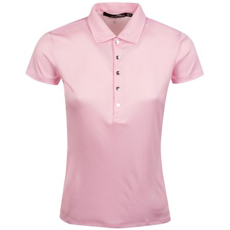 Polo Womens Two Tone Dot Mesh Polo Carmel Pink/Pure White - AW19 Polo Ralph Lauren Picture