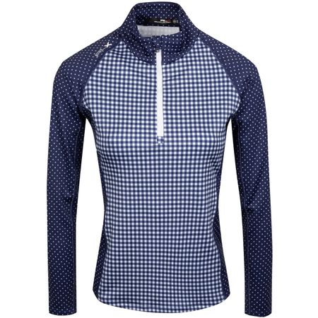 Golf undefined Womens Powerstretch HZ Jersey White Dot/Gingham - AW19 made by Polo Ralph Lauren