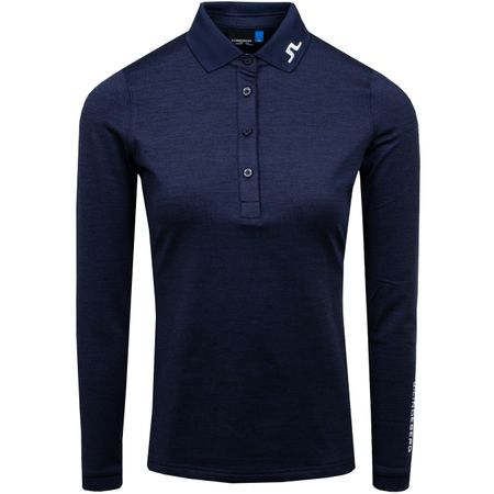 Golf undefined Womens Tour Tech LS TX Brushed Jersey Navy Melange - AW19 made by J.Lindeberg