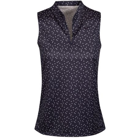 Golf undefined Womens Dry Print Sleeveless Polo Gridiron - AW19 made by Nike Golf