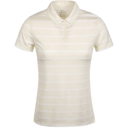 Polo Womens Dry Stripe Polo Sail/White - AW19 Nike Golf Picture