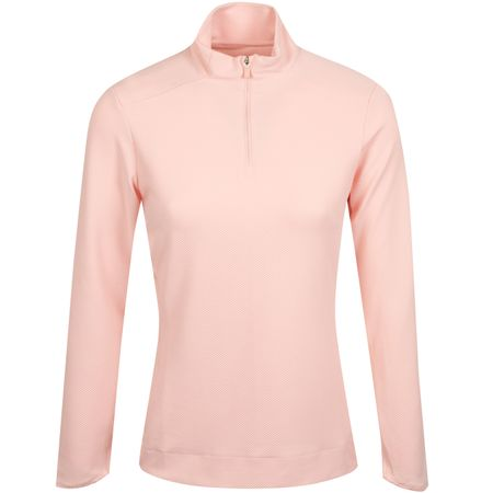 Golf undefined Womens Dry UV Quarter Zip Echo Pink - AW19 made by Nike Golf