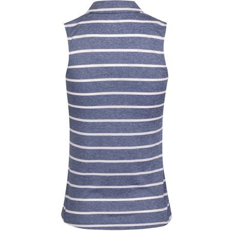 Polo Womens Dry Stripe Sleeveless Polo Blue Void/White - AW19 Nike Golf Picture