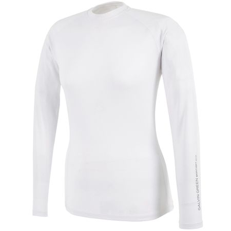 Golf undefined Womens Elaine Crew Neck Skintight Thermal White - AW19 made by Galvin Green