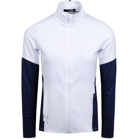Golf undefined Womens Powerstretch Jersey Pure White/Navy Dot - AW19 made by Polo Ralph Lauren