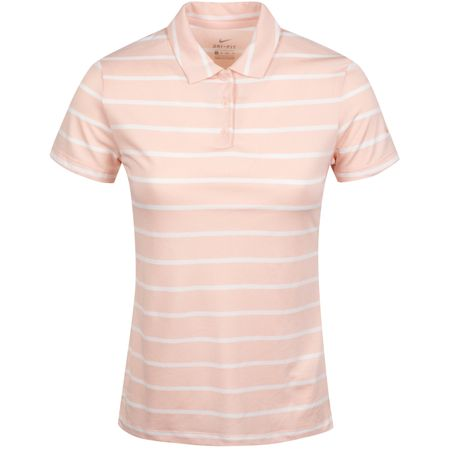 Golf undefined Womens Dry Stripe Polo Echo Pink/White - AW19 made by Nike Golf