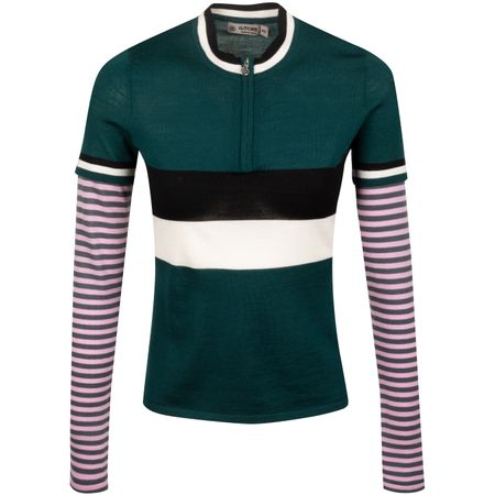 Golf undefined Womens Multi Stripe Sweater Pine - AW19 made by G/FORE