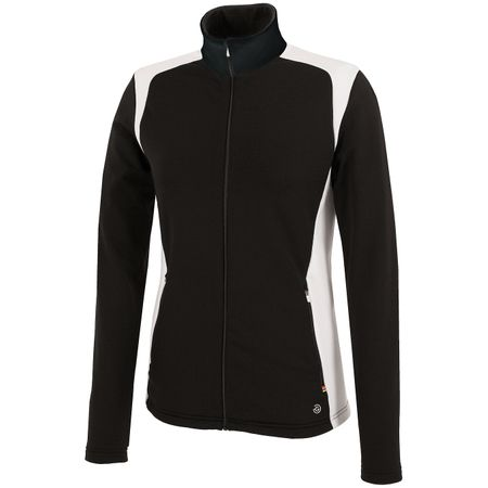 Golf undefined Womens Dorothy Insula FZ Jacket Black/White - AW19 made by Galvin Green