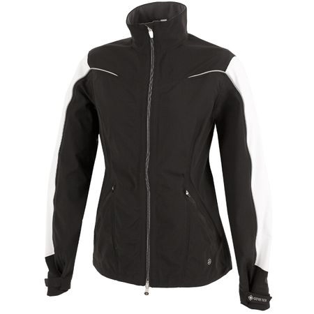 Golf undefined Womens Aino Paclite Jacket Black/White/Silver - AW19 made by Galvin Green