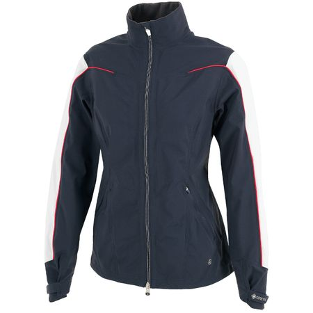 Golf undefined Womens Aino Paclite Jacket Navy/White/Azalea - AW19 made by Galvin Green