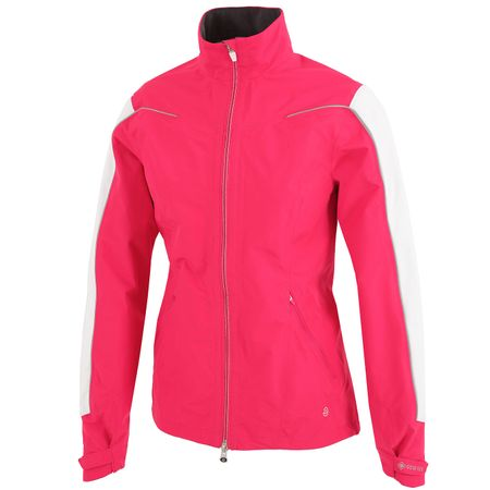 Golf undefined Womens Aino Paclite Jacket Azalea/White/Silver - AW19 made by Galvin Green