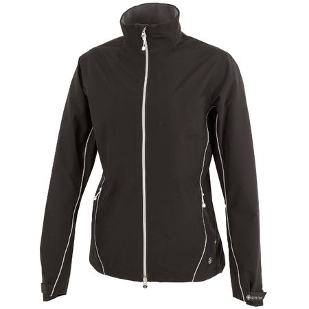 Golf undefined Womens Arissa Gore-Tex Jacket Black/Silver - AW19 made by Galvin Green